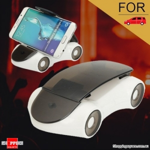 360 Degree Rotatable Car Stand Mount Holder for Samsung iPhone Android White Colour