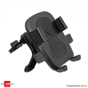 360 Degree Rotating Air Vent Car Mount Holder for iPhone Samsung Black Colour