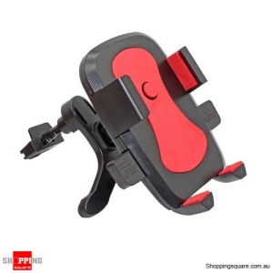 360 Degree Rotating Air Vent Car Mount Holder for iPhone Samsung Red Colour