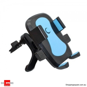 360 Degree Rotating Air Vent Car Mount Holder for iPhone Samsung Blue Colour