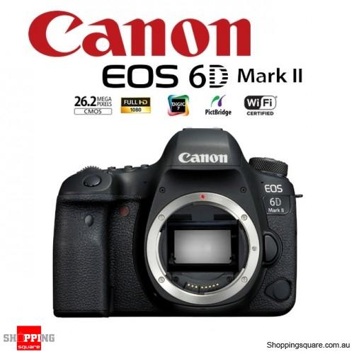 Canon EOS 6D II Digital Camera Full HD WiFi 26.2MP DSLR Body Black