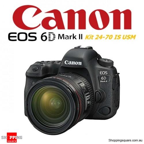 Canon EOS 6D II Kit 24-70mm f/4L IS USM Digital Camera Full HD WiFi 26.2MP DSLR Black