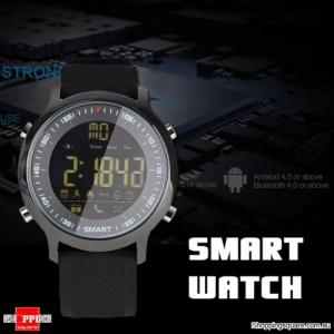 Bluetooth Stopwatch Smart Watch Bracelet Sport Outdoor Movement Tracker Remote Camera for Android Black Colour