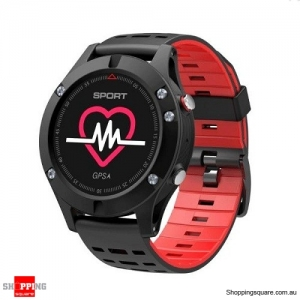 NO.1 F5 OLED Smart Watch with Real-time Heart Rate Sleep Monitor GPS Multi-Sport Mode Outdoor Altimeter Red Colour