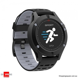 NO.1 F5 OLED Smart Watch with Real-time Heart Rate Sleep Monitor GPS Multi-Sport Mode Outdoor Altimeter Grey Colour