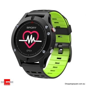 NO.1 F5 OLED Smart Watch with Real-time Heart Rate Sleep Monitor GPS Multi-Sport Mode Outdoor Altimeter Green Colour