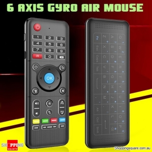 H1 6-Axis Gyro 2.4GHz Air Mouse Touchpad Keyboard with Backlight for Android Windows Mac OS Linux