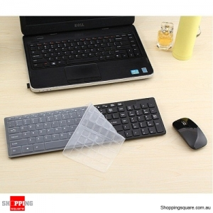 Wireless Cordless Keyboard and Optical Mouse USB Receiver Set for Windows PC Black Colour
