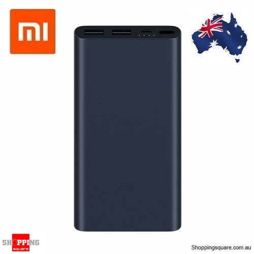Original Xiaomi 10000mAh Power Bank 2S Dual USB Quick Charge 2.0 Portable Charger for Mobile Phone Black Colour AU Stock