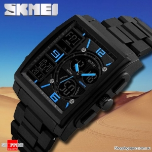 SKMEI 1274 Stylish Waterproof Outdoor Sport Digital Watch with PU Band Compass Chronograph Black Colour