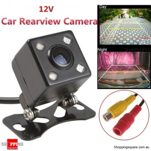 Car Waterproof Rear View Backup Reverse Camera 170 Degree with 4 LED HD CCD Night Vision