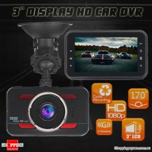 Stylish 3 Inch Full HD 1080P Car Dashboard Dash Video Camera Recorder DVR with G-sensor