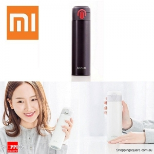 Genuine Xiaomi Portable 300ML Vacuum 316 Stainless Steel Water Bottle Warm Cup Black Colour