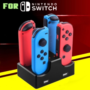 Recharging Dock Station with 2 USB Ports for Nintendo Switch Joy-Con & Android Phone