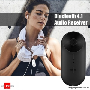LOOP R8 Mini Wireless Bluetooth Audio Receiver Adapter for Speaker Headphone - Black Colour