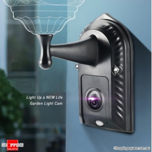 HD 1080P Gardening Flood Light Camera H.265 120° Wide Angle Lens PIR Sensor Onvif IPX5 Waterproof