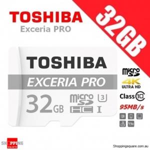 Toshiba Exceria PRO 32GB M401 microSDHC Memory Card 95MB/s UHS-I U3 4K Ultra HD