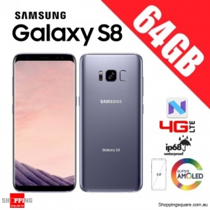 Samsung Galaxy S8 64GB Dual Sim G9500 4G LTE Unlocked Smart Phone Orchid Gray
