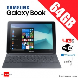 Samsung Galaxy Book 64GB 10.6'' W627 WiFi 4G LTE Tablet PC + Keyboard Black