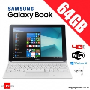 Samsung Galaxy Book 64GB 10.6'' W627 WiFi 4G LTE Tablet PC + Keyboard White