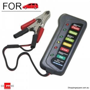12V Lead-acid 6-LED Battery Tester for Car Motorcycle Vehicle