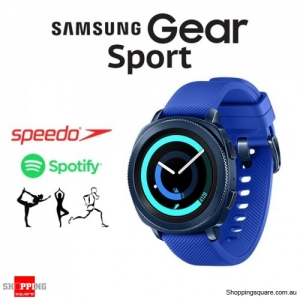 Samsung Gear Sport R600 Fitness Training Smart Watch Blue