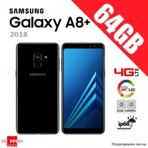 Samsung Galaxy A8+ A8 Plus 64GB (2018) Dual Sim A730FD 4G LTE Unlocked Smart Phone Black