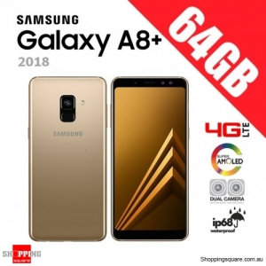 Samsung Galaxy A8+ A8 Plus 64GB (2018) Dual Sim A730FD 4G LTE Unlocked Smart Phone Gold