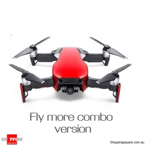 DJI Mavic Air Fly More Combo Foldable Drone Quadcopter with FPV 3-Axis Gimbal 4K HD 32MP Sphere Panorama Red Colour