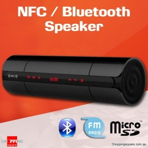 Portable HIFI Wireless NFC Bluetooth Stereo Super Bass Speaker with FM for iPhone Android Black Colour