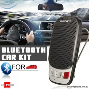 Bluetooth Wireless Portable Slim Hands Free Car Kit Speaker Phone with Visor Clip