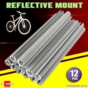 12Pcs of Bicycle Bike Wheel Spoke Reflector Reflective Mount Tube Bar Clip
