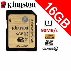 Kingston 16GB Class10 SDHC UHS-1 SD Memory Card 90MB/s full HD