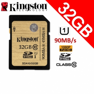 Kingston 32GB Class10 SDHC UHS-1 SD Memory Card 90MB/s full HD
