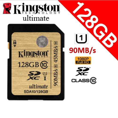 Kingston 128GB Class10 SDXC UHS-1 SD Memory Card 90MB/s full 128