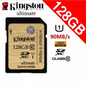 Kingston 128GB Class10 SDXC UHS-1 SD Memory Card 90MB/s full 128
