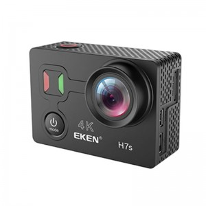 EKEN H7S 4K 30fps WiFi Action Camera with Remote Control  -Black Colour