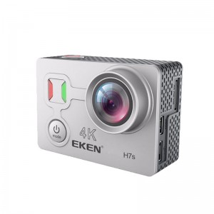 EKEN H7S 4K 30fps WiFi Action Camera with Remote Control  - Silver Colour