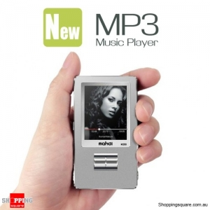 HiFi Mini High Quality MP3 Music Player with 1.8 Inch Screen Supported 128GB MicroSD Card Silver Colour