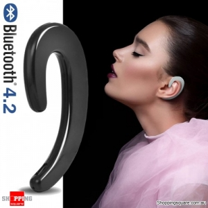 Hanging Design Bluetooth V4.2 Earphone with Mic Black Colour