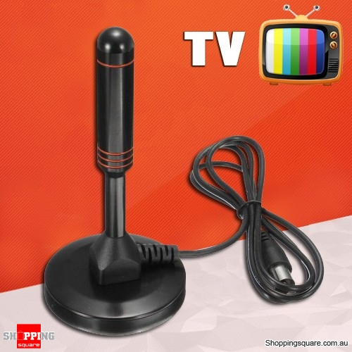 High Gain TV Antenna Supported 1080p HD FREE Air Channels with Suction Base