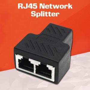 1 RJ45 Female to 2 RJ45 Female LAN Ethernet Network Splitter Adapter