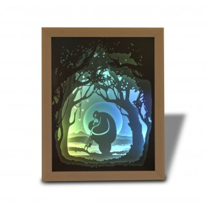 3D Creative Paper Sculpture Night Light