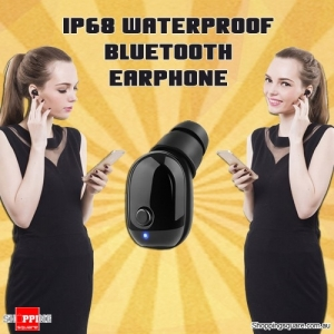 IP68 Waterproof Bluetooth 4.1 Single Earbud Sport Earphones