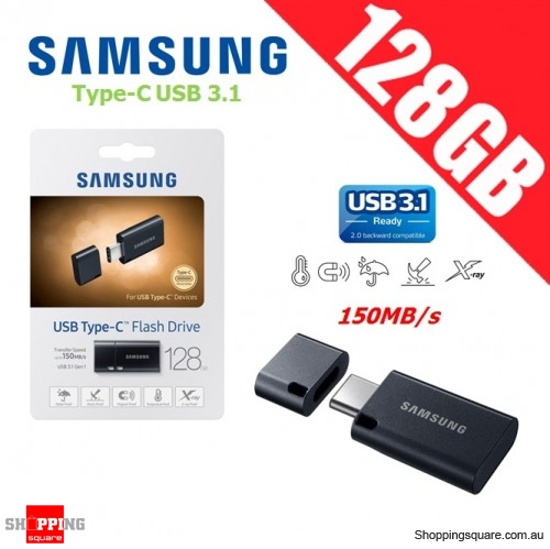 Samsung 128GB Type-C USB 3.1 MUF-128DA2 Flash Drive 150MB/s Black
