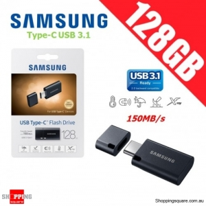 Samsung 128GB Type-C USB 3.1 Flash Drive Memory Thumb Pendrive Black 150MB/s