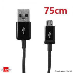 75cm USB to Micro USB Charging Data Cable for Samsung Galaxy, HTC , MP3, MP4