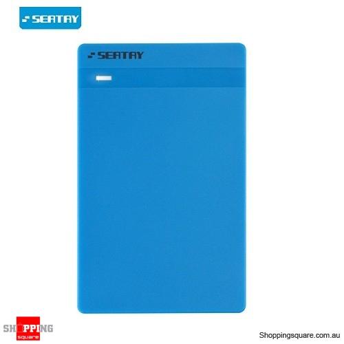 SEATAY USB 3.0 External 2.5inch SATA SDD HDD Hard Drive Disc Enclosure Case Box Blue Colour