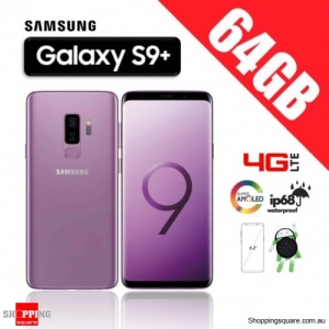 Samsung Galaxy S9 Plus 64GB Dual Sim 4G LTE Unlocked Smart Phone Lilac Purple