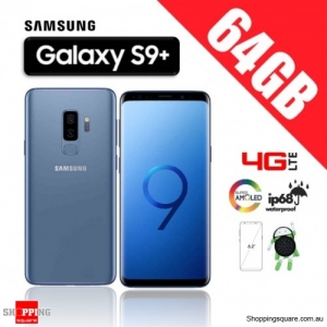 Samsung Galaxy S9 Plus 64GB G965FD Dual Sim 4G LTE Unlocked Smart Phone Coral Blue